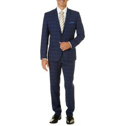 Nick Graham Mens Plaid Suit