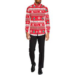 Opposuits Mens Winter Wonderland Christmas Shirt