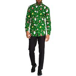 Opposuits Mens Santaboss Christmas Shirt