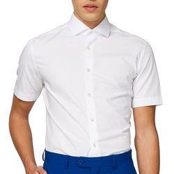 Opposuits Mens White Knight Solid Summer Shirt