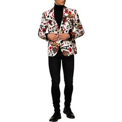 Mens King of Clubs Cards Blazer