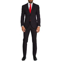 Opposuits Mens Merry Pinstripe Christmas Suit