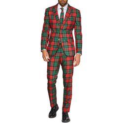 Opposuits Mens Trendy Tartan Christmas Suit