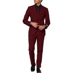 Opposuits Mens Blazing Burgundy Solid Suit