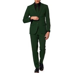 Opposuits Mens Glorious Green Solid Suit