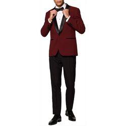Opposuits Mens Hot Burgundy Festive Tuxedo