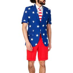 Opposuits Mens Stars & Stripes 3-pc. Summer Suit