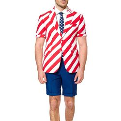 Opposuits Mens United Stripes 3-pc. Summer Suit