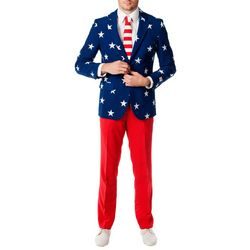 Mens Stars & Stripes 3-pc. Suit