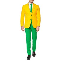 Opposuits Mens Green & Gold 3-pc. Suit
