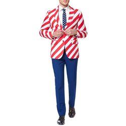 Opposuits Mens United Stripes 3-pc. Suit