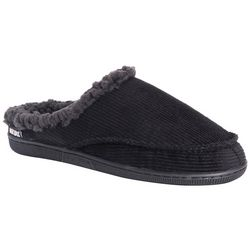 Mens Corduroy Clog Slippers