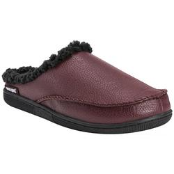 Mens Faux Leather Clog Slippers
