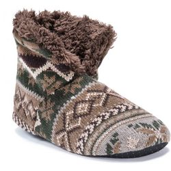 Muk Luks Mens Snowflake Print Boot Slippers
