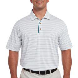 Pebble Beach Mens Finelife Stripe Polo Shirt