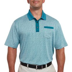 Pebble Beach Mens Heathered Contrast Trim Polo Shirt