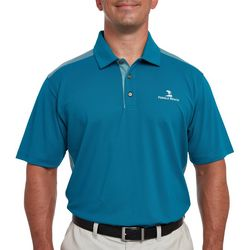 Pebble Beach Mens Birdseye Colorblock Polo Shirt