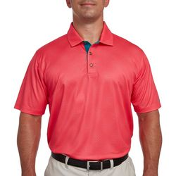 Pebble Beach Mens Diamond Embossed Polo Shirt