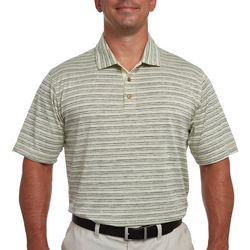Pebble Beach Mens Striped Distressed Polo Shirt