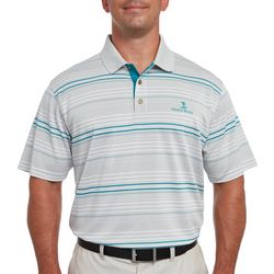 Pebble Beach Mens Micro Pique Stripe Polo Shirt