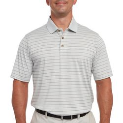 Pebble Beach Mens Tonal Stripe Polo Shirt