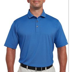 Pebble Beach Mens Cross Hatch Jacquard Polo Shirt