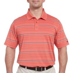 Pebble Beach Mens Horizontal Stripe Print Polo Shirt