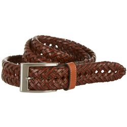 Boca Classics Basketweave Braided Leather Belt
