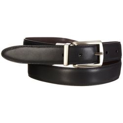 Boca Classics Mens Solid Reversible Dress Belt