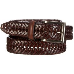 Boca Classics Mens Braided Leather Casual Belt