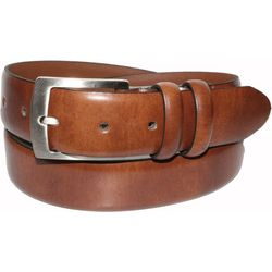 IZOD Mens Leather Double Loop Dress Belt