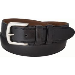IZOD Mens Leather Solid Dress Belt