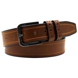 Tallia Mens 38mm Antique Leather Belt
