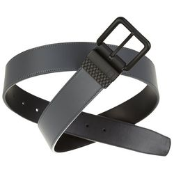 PGA TOUR Mens Slam Grey & Black Reversible Belt