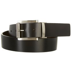 Swiss Gear Mens Perforated Reversible Leather Belt