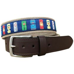 Pebble Beach Mens Beer Can Belt