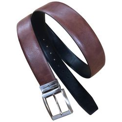 Pebble Beach Mens 35mm Reversible Leather Belt