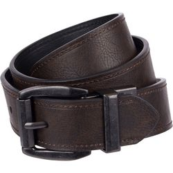 Levi's Mens 40mm Logo Reversible Belt Black/Brown
