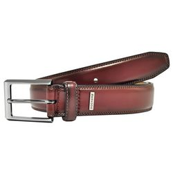 Dockers Mens Leather Edge Stitch Belt