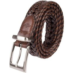 Dockers Mens Braided Leather Belt