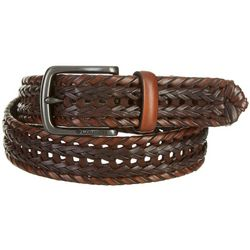 Columbia Mens Braided Leather Belt