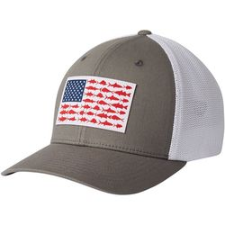 Columbia Mens PFG Mesh Fish Flag Flexfit Hat