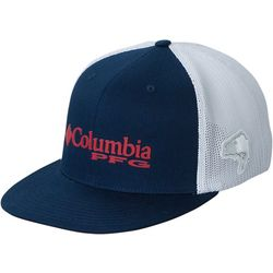 Columbia Mens PFG Mesh Flat Brim Bass Hat