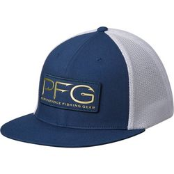 Columbia Mens PFG Mesh Flat Brim Hook Hat