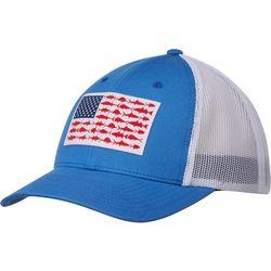 Columbia Mens PFG Mesh Snapback Flag Hat