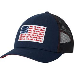 Columbia Mens PFG Mesh Fish Flag Snap Back Hat