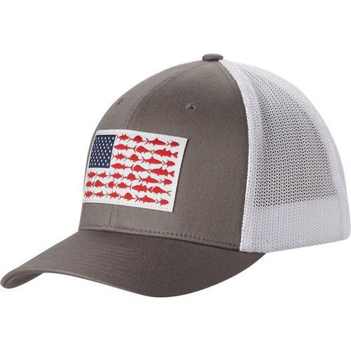 3f075119960 Columbia Mens PFG Fish Flag Mesh Hat