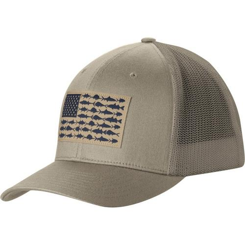 fd1efa8703e Columbia Mens PFG Fish Flag Patch Mesh Hat