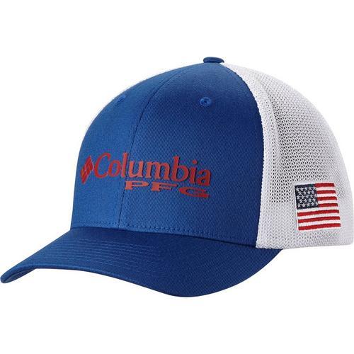 1bcf3257466 Columbia Mens PFG Mesh Flag Hat