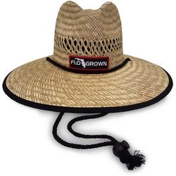 FloGrown Mens Round Straw Hat